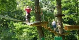 Parcours acrobatique dans les Alpes